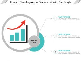 Upward Trending Arrow Trade Icon With Bar Graph