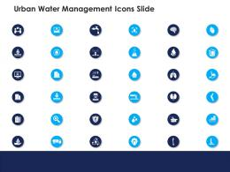 urban water management icons slide ppt structure
