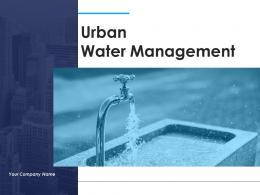 Urban Water Management Powerpoint Presentation Slides