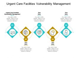 Urgent Care Facilities Vulnerability Management Ppt Powerpoint Presentation Icon Graphics Pictures Cpb