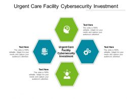 Urgent Care Facility Cybersecurity Investment Ppt Powerpoint Presentation Infographic Template Mockup Cpb