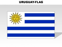 Uruguay Country Powerpoint Flags