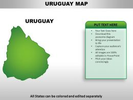 Uruguay Country Powerpoint Maps