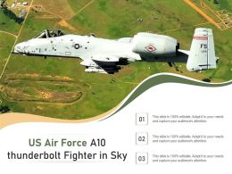 US Air Force A10 Thunderbolt Fighter In Sky