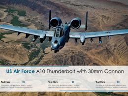 US Air Force A10 Thunderbolt With 30MM Cannon