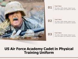 US Air Force Academy Cadet In Physical Training Uniform