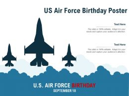 US Air Force Birthday Poster
