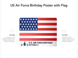US Air Force Birthday Poster With Flag