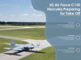 US Air Force C130 Hercules Preparing For Take Off