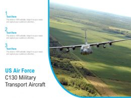 US Air Force C130 Military Transport Aircraft