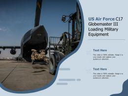 US Air Force C17 Globemaster III Loading Military Equipment