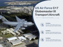 US Air Force C17 Globemaster III Transport Aircraft