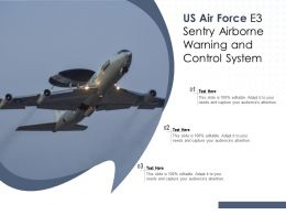 US Air Force E3 Sentry Airborne Warning And Control System