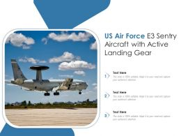 US Air Force E3 Sentry Aircraft With Active Landing Gear