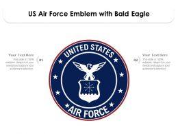 US Air Force Emblem With Bald Eagle