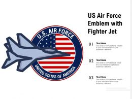 US Air Force Emblem With Fighter Jet