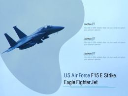 US Air Force F15 E Strike Eagle Fighter Jet