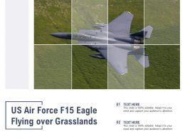 US Air Force F15 Eagle Flying Over Grasslands