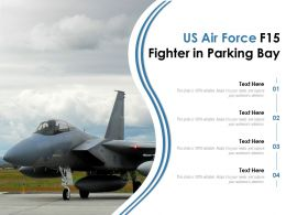US Air Force F15 Fighter In Parking Bay