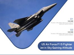 US Air Force F15 Fighter Jet In Sky Gaining Altitude