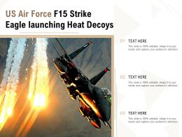 US Air Force F15 Strike Eagle Launching Heat Decoys