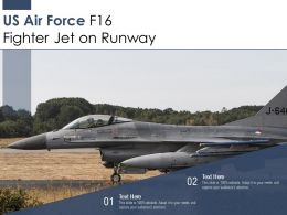 US Air Force F16 Fighter Jet On Runway