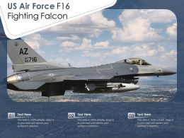 US Air Force F16 Fighting Falcon