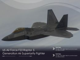 US Air Force F22 Raptor 5 Generation Air Superiority Fighter