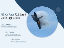 US Air Force F22 Stealth Jet In High G Turn