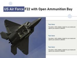 US Air Force F22 With Open Ammunition Bay