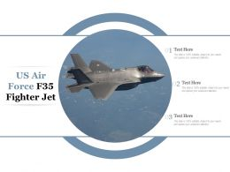 US Air Force F35 Fighter Jet