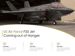 US Air Force F35 Jet Coming Out Of Hanger