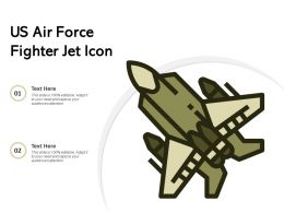US Air Force Fighter Jet Icon