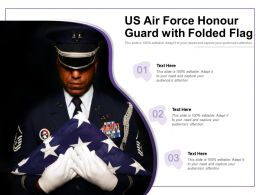 US Air Force Honour Guard With Folded Flag