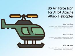 US Air Force Icon For AH64 Apache Attack Helicopter