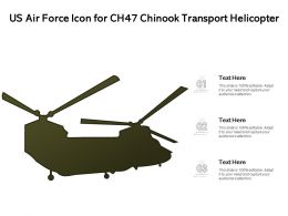 US Air Force Icon For CH47 Chinook Transport Helicopter