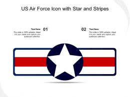US Air Force Icon With Star And Stripes