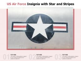 US Air Force Insignia With Star And Stripes