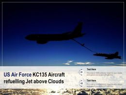 US Air Force KC135 Aircraft Refuelling Jet Above Clouds