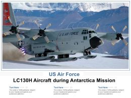 US Air Force LC130H Aircraft During Antarctica Mission