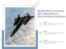 US Air Force Lockheed SR71 Blackbird On Reconnaissance Mission