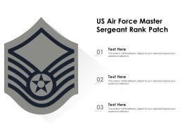 US Air Force Master Sergeant Rank Patch
