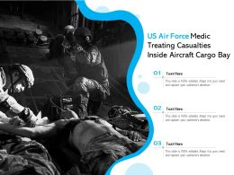 US Air Force Medic Treating Casualties Inside Aircraft Cargo Bay