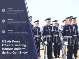 US Air Force Officers Wearing Honour Uniform During Gun Show