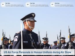 US Air Force Personals In Honour Uniform During Air Show