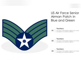 US Air Force Senior Airman Patch In Blue And Green