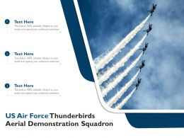 US Air Force Thunderbirds Aerial Demonstration Squadron