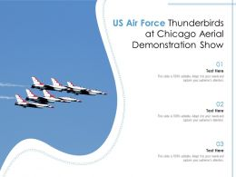 US Air Force Thunderbirds At Chicago Aerial Demonstration Show