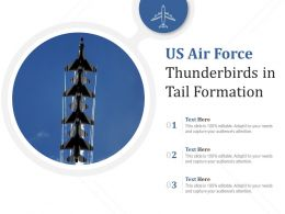 US Air Force Thunderbirds In Tail Formation