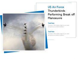US Air Force Thunderbirds Performing Break Off Manoeuvre